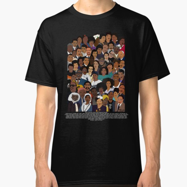 Black History Month T-Shirt American Legend Black Pride Light Blue Tee