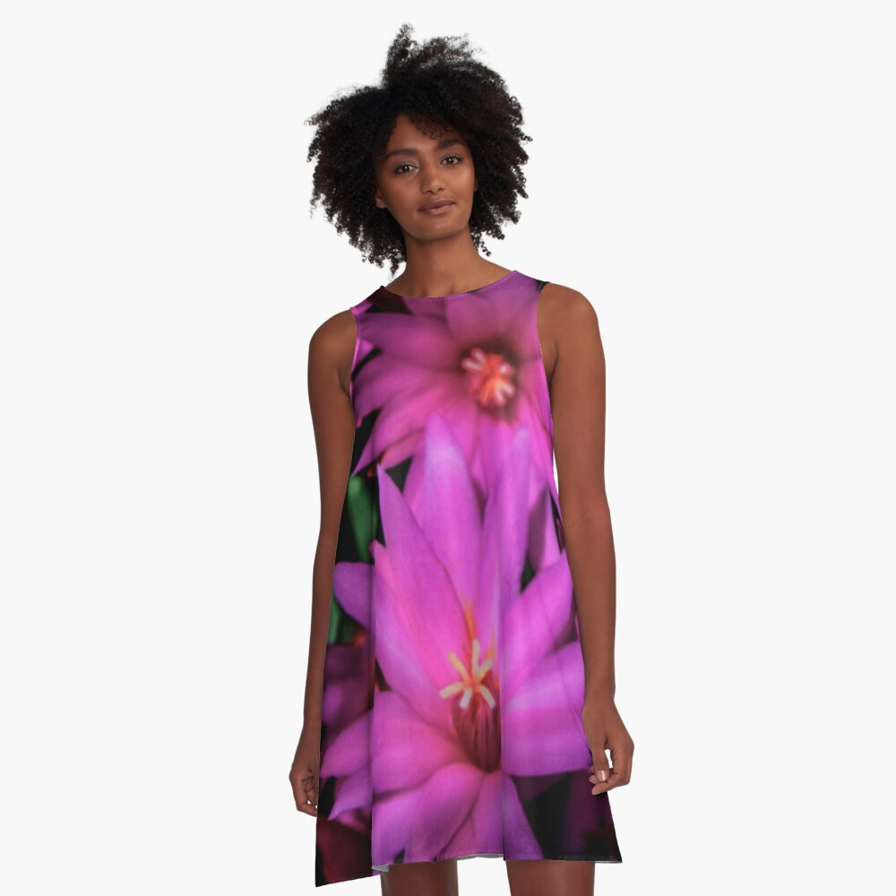 Triple Purple  A-Line Dress Front