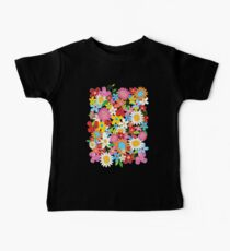 Colorful Whimsical Spring Flowers Garden Baby Tee