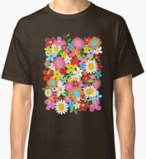 Colorful Whimsical Spring Flowers Garden Classic T-Shirt