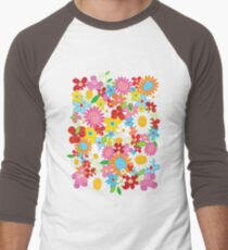 Colorful Whimsical Spring Flowers Garden T-Shirt