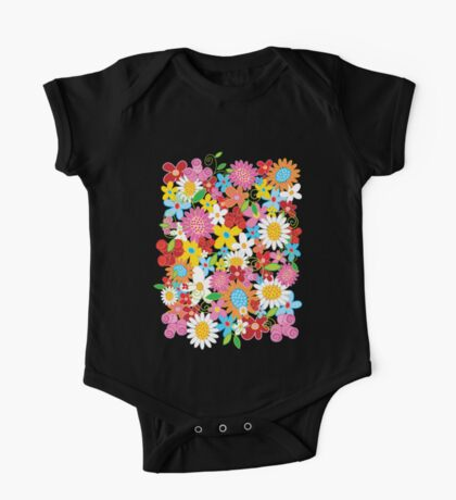 Colorful Whimsical Spring Flowers Garden Kids Clothes