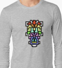 crazy colorful shapes Long Sleeve T-Shirt