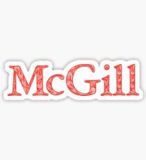 McGill University  Sticker
