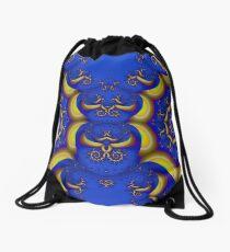 Baroque and Blue Drawstring Bag