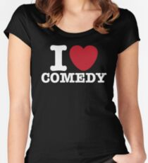 I Heart Comedy Women's Fitted Scoop T-Shirt