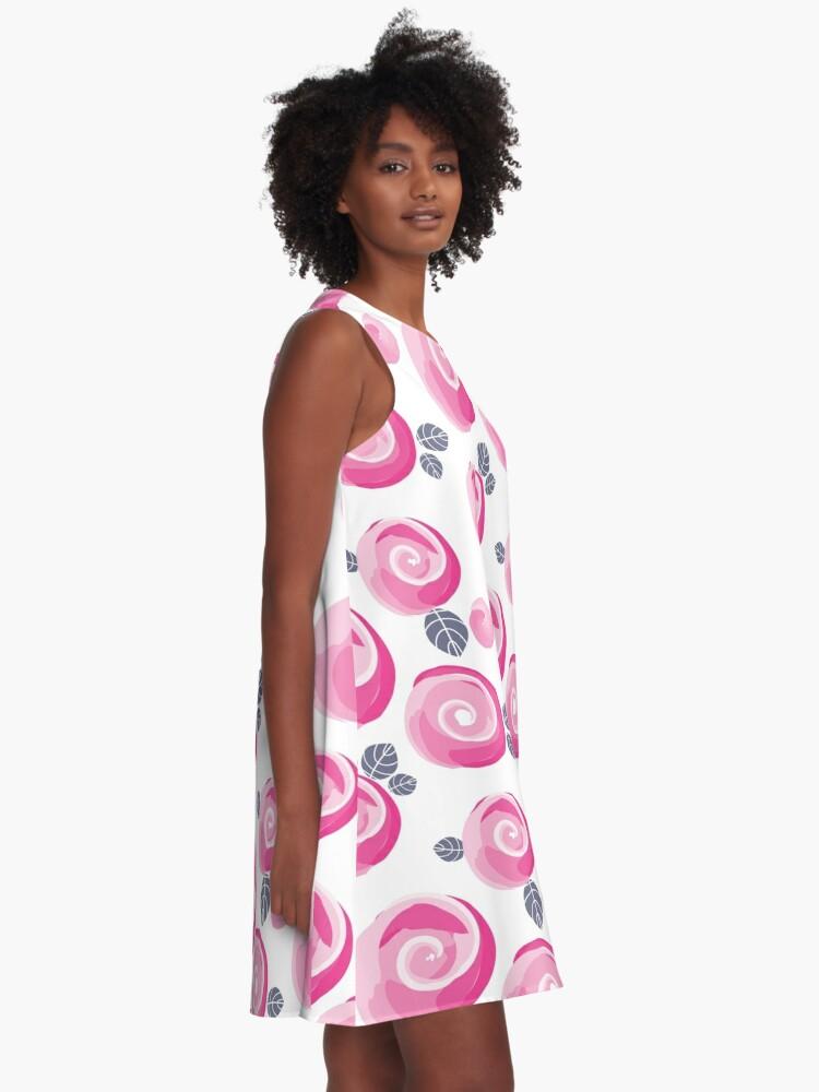 Alternative Ansicht von Auroras Rosen A-Linien Kleid