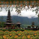 Bali Batik, Hindu Temple, Bali, Indonesia by Jane McDougall