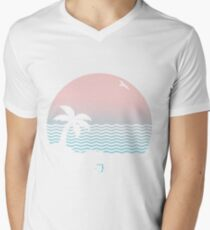wiped out! Men's V-Neck T-Shirt