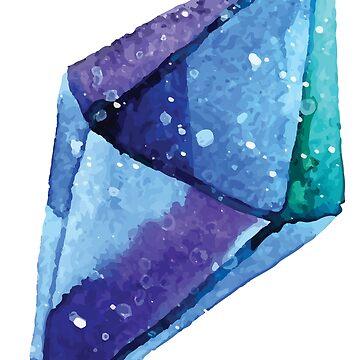 Blaue Kristalledelsteine von SandiTyche