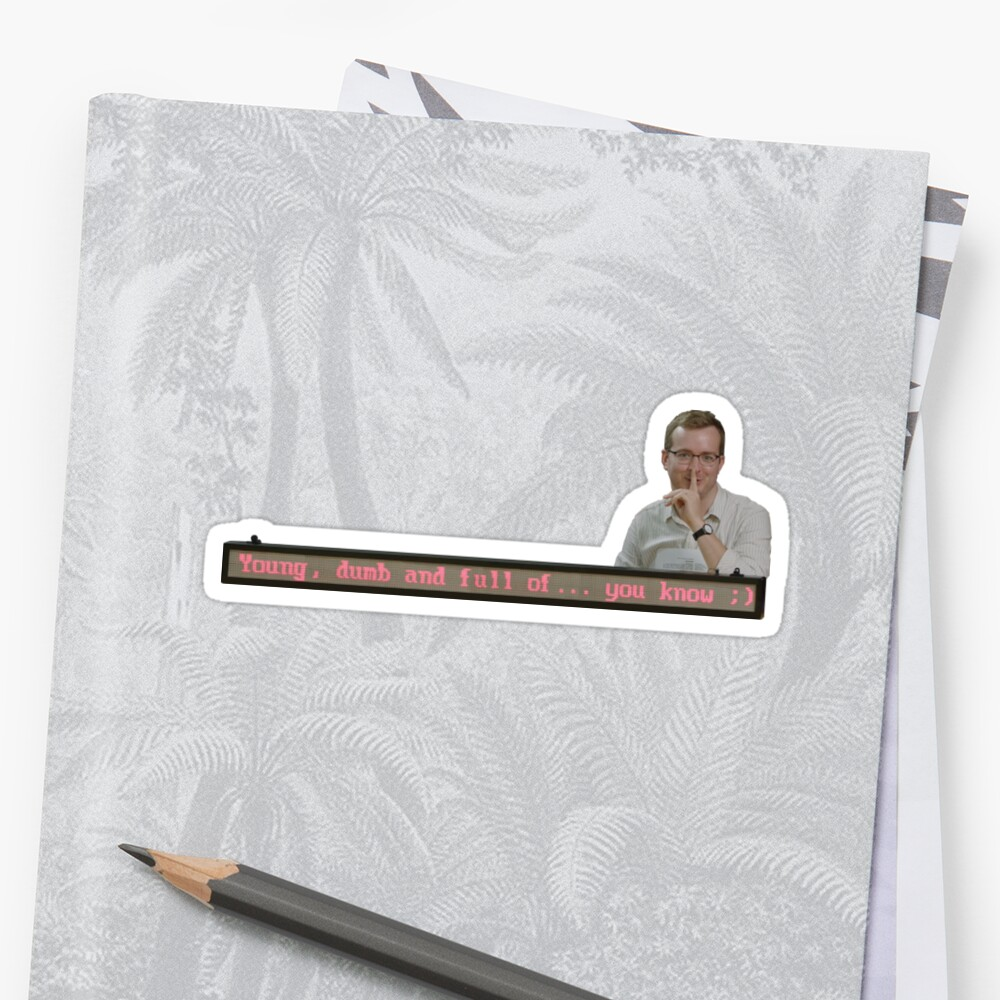 mbmbam - The Hightech Resume of the Future Sticker
