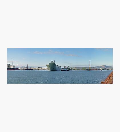 HMAS Canberra leaving Port of Townsville NQ Photographic Print