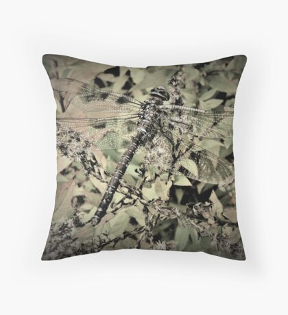 Dragonfly In Hiding Throw Pillow