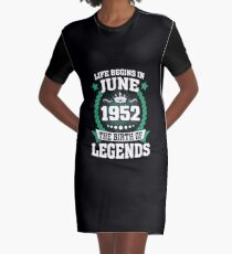 June 1952 The Birth Of Legends Graphic T-Shirt Dress
