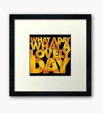 What a lovely day Framed Print