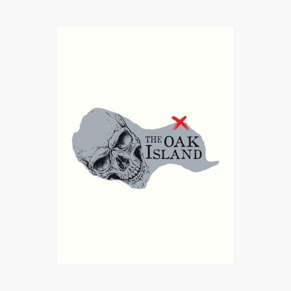 Oak Island Shirt Art Print