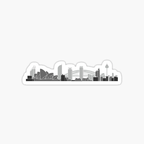 Sydney Skyline Sticker