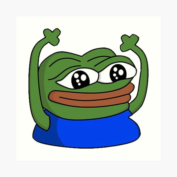 """HYPERS Twitch Emote"""" Art Print by mattysus 