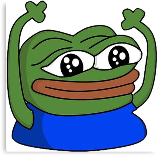 Image result for hands up pepe