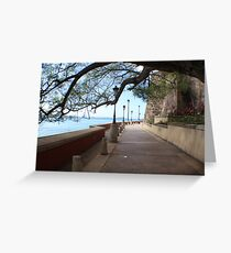 Old San Juan Paseo Greeting Card