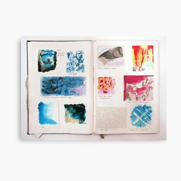 Sketchbook Page it Up Metal Print