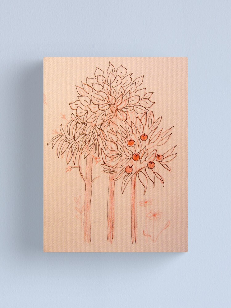 Alternate view of Scribbled Tree Canvas Print