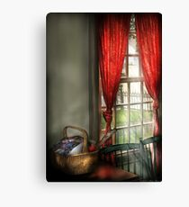 A Sewing Basket Canvas Print