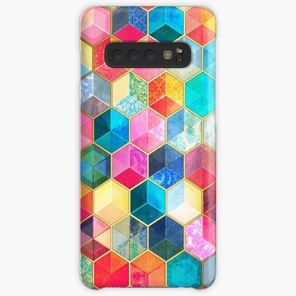 Crystal Bohemian Honeycomb Cubes - colorful hexagon pattern Samsung Galaxy Snap Case