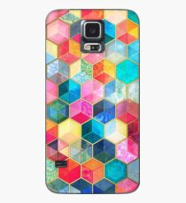 Crystal Bohemian Honeycomb Cubes - colorful hexagon pattern Case/Skin for Samsung Galaxy
