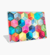 Crystal Bohemian Honeycomb Cubes - colorful hexagon pattern Laptop Skin