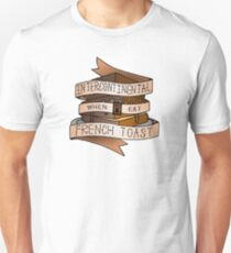 Intercontinental when I eat French toast. Slim Fit T-Shirt