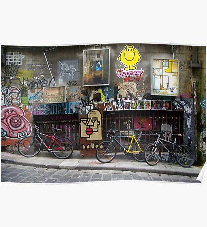Melbourne grafitti Poster