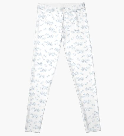 Blaue Rosen Leggings