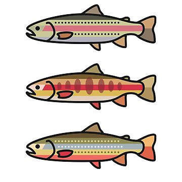 Rainbow Golden Brook Trout Fishing Gift for Fisherman by EKGifts