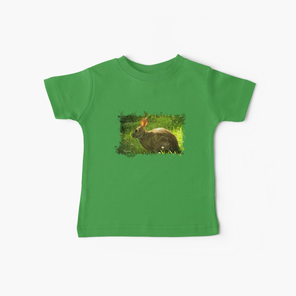 Wild Bunny ~ In a Patch of Clover Baby T-Shirt