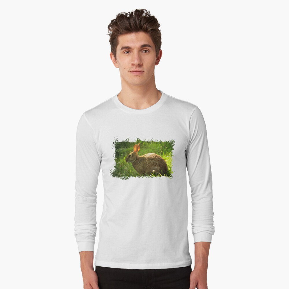 Wild Bunny ~ In a Patch of Clover Long Sleeve T-Shirt