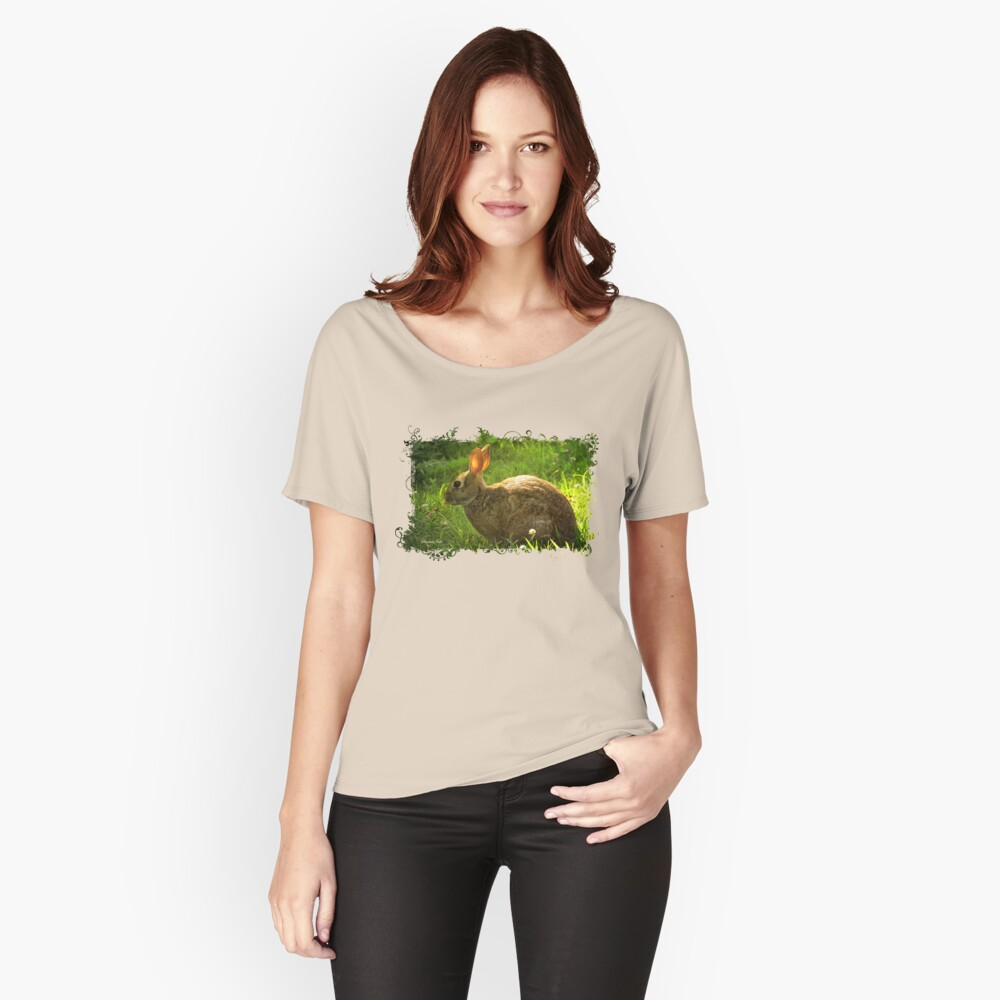 Wild Bunny ~ In a Patch of Clover Relaxed Fit T-Shirt