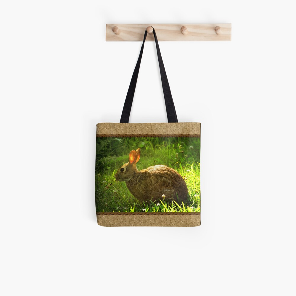 Wild Bunny ~ In a Patch of Clover Tote Bag