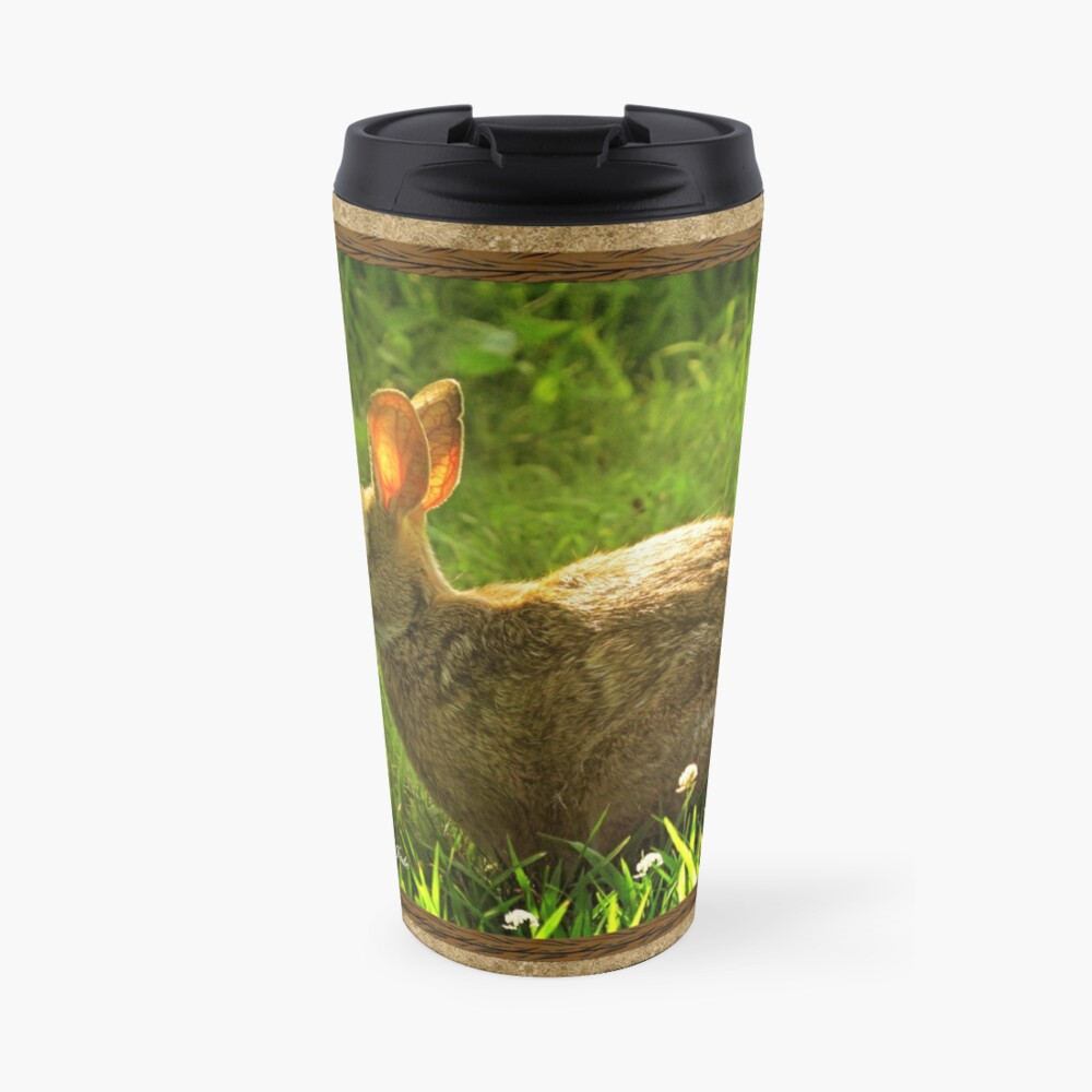 Wild Bunny ~ In a Patch of Clover Travel Mug