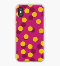 Gold Spotty Dots iPhone Case