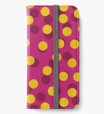 Gold Spotty Dots iPhone Wallet/Case/Skin