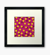 Gold Spotty Dots Framed Print