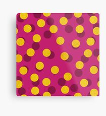 Gold Spotty Dots Metal Print