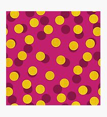 Gold Spotty Dots Photographic Print