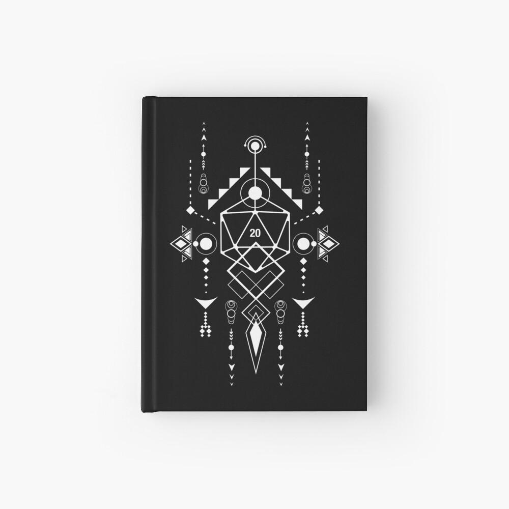 D20 Dice Tabletop RPG Gaming Geometric Symbols Hardcover Journal