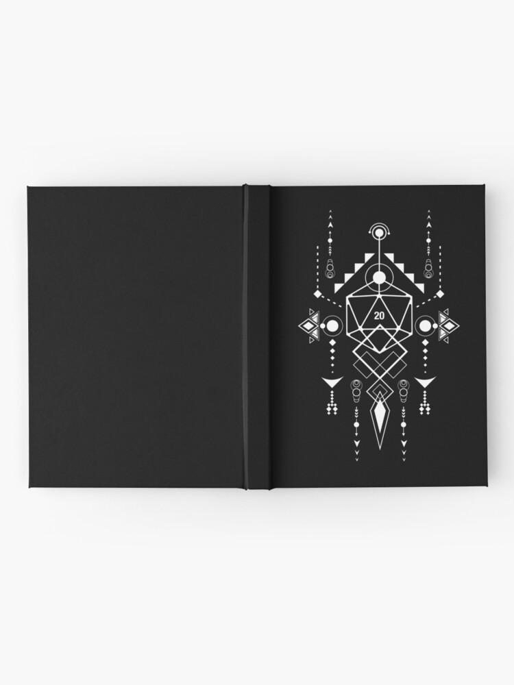 Alternate view of D20 Dice Tabletop RPG Gaming Geometric Symbols Hardcover Journal