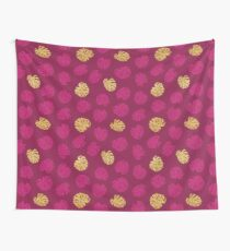 Gold Monstera Leaf Wall Tapestry