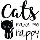 Cats Make Me Happy by catloversaus