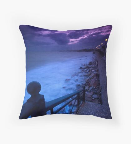 Stairway to the sea Throw Pillow