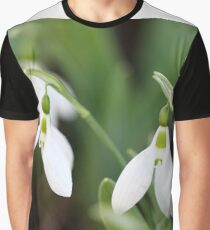 snowdrops close up spring season Graphic T-Shirt